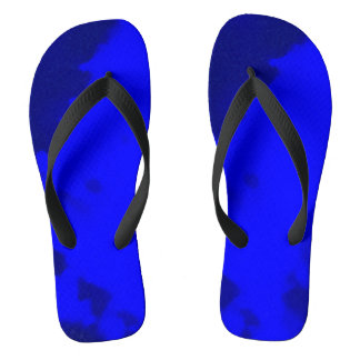 deep blue flip flops by DAL