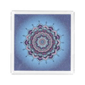 Deep Blue Glow Mandala ID361