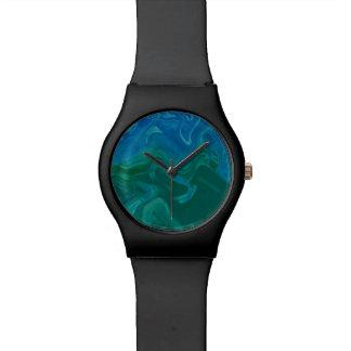 Deep Blue Green Ti-Dye Watch