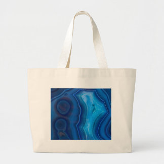 Deep Blue Lagoon Agate Large Tote Bag