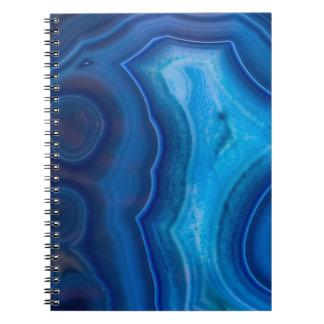 Deep Blue Lagoon Agate Notebook