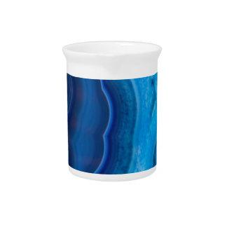 Deep Blue Lagoon Agate Pitcher