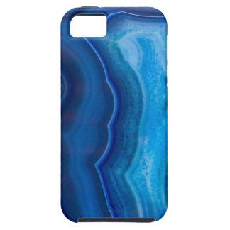Deep Blue Lagoon Agate Tough iPhone 5 Case