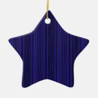 Deep blue lines ceramic star decoration