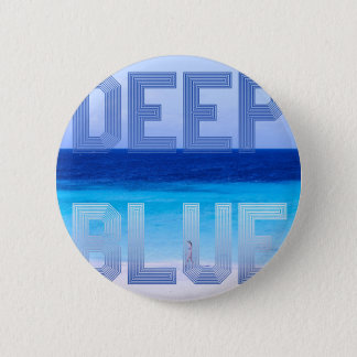 Deep Blue logo backdrop 6 Cm Round Badge