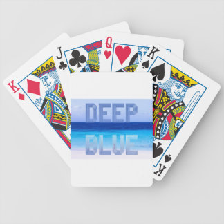 Deep Blue logo backdrop Bicycle Playing Cards