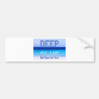 Deep Blue logo backdrop Bumper Sticker