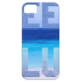 Deep Blue logo backdrop iPhone 5 Case