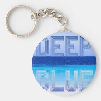 Deep Blue logo backdrop Key Ring