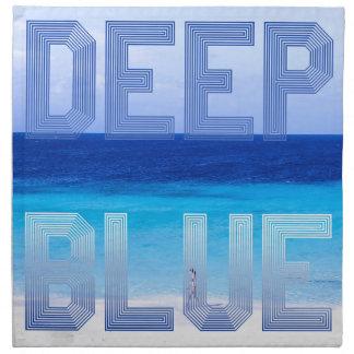 Deep Blue logo backdrop Napkin