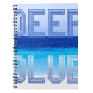 Deep Blue logo backdrop Notebooks