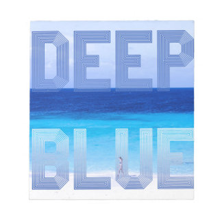 Deep Blue logo backdrop Notepad