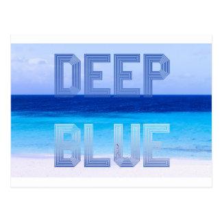 Deep Blue logo backdrop Postcard