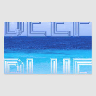 Deep Blue logo backdrop Rectangular Sticker