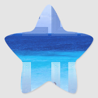 Deep Blue logo backdrop Star Sticker