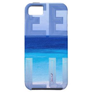 Deep Blue logo backdrop Tough iPhone 5 Case