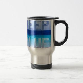 Deep Blue logo backdrop Travel Mug