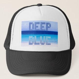 Deep Blue logo backdrop Trucker Hat