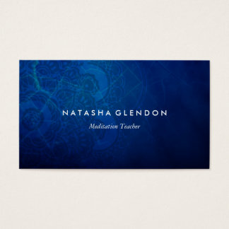 Deep Blue Mandala Zen Business Card
