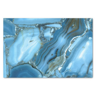Deep Blue Marble Tissue Paper