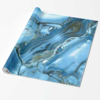 Deep Blue Marble Wrapping Paper