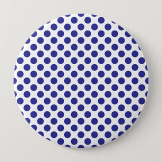 Deep Blue Polka Dots 10 Cm Round Badge