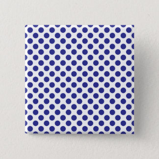 Deep Blue Polka Dots 15 Cm Square Badge