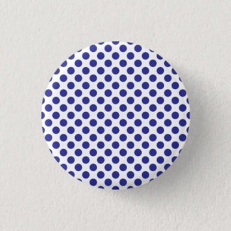 Deep Blue Polka Dots 3 Cm Round Badge