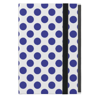 Deep Blue Polka Dots Cases For iPad Mini