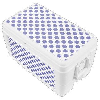 Deep Blue Polka Dots Chest Cooler