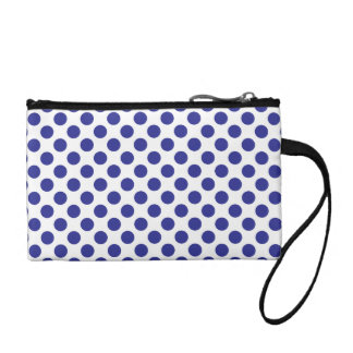 Deep Blue Polka Dots Coin Purse