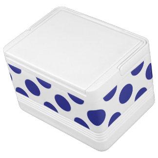 Deep Blue Polka Dots Cooler