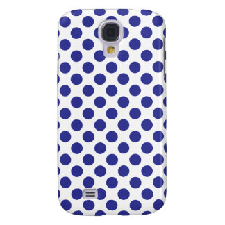 Deep Blue Polka Dots Galaxy S4 Case