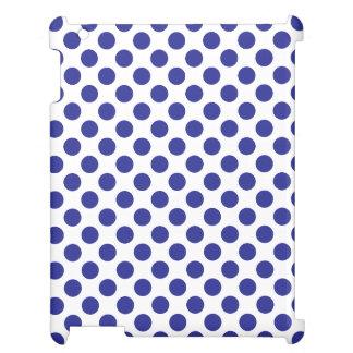 Deep Blue Polka Dots iPad Case