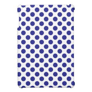 Deep Blue Polka Dots iPad Mini Case