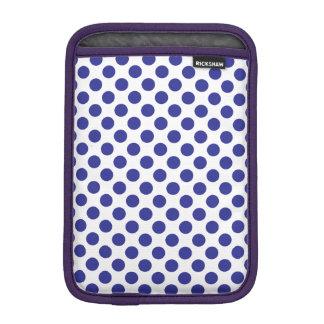 Deep Blue Polka Dots iPad Mini Sleeve