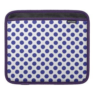 Deep Blue Polka Dots iPad Sleeve