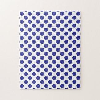 Deep Blue Polka Dots Jigsaw Puzzle