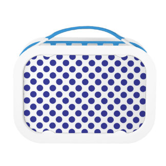 Deep Blue Polka Dots Lunch Boxes