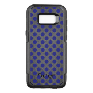 Deep Blue Polka Dots OtterBox Commuter Samsung Galaxy S8+ Case