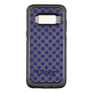 Deep Blue Polka Dots OtterBox Commuter Samsung Galaxy S8 Case
