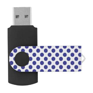 Deep Blue Polka Dots USB Flash Drive