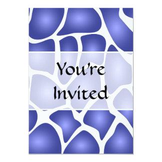 Deep Blue Random Mosaic Pattern Invitations