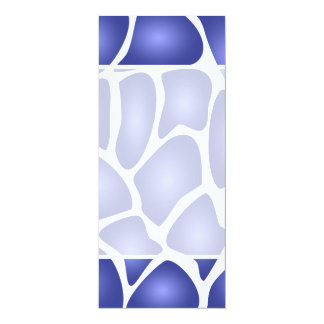 Deep Blue Random Mosaic Pattern Personalized Invite