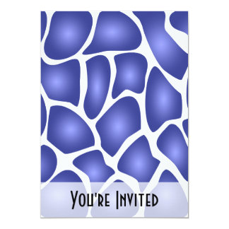 Deep Blue Random Mosaic Pattern Personalized Invitations