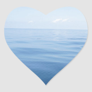 deep blue sea heart sticker