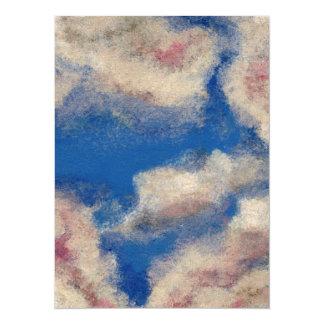 DEEP BLUE SKY ~ 14 CM X 19 CM INVITATION CARD