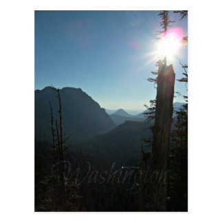 Deep Blue Sky and of Mountains in Washington State Postcard