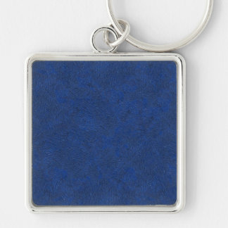 DEEP BLUE SKY (have you ever seen a bluer sky?) ~ Silver-Colored Square Key Ring