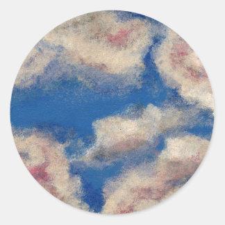 DEEP BLUE SKY ~ ROUND STICKER